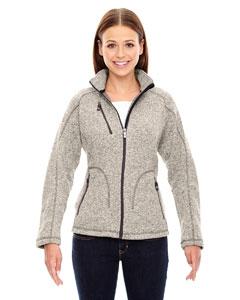 North End Sport Red 78669 Ladies' Peak Sweater Fleece Jacket