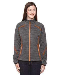 North End Sport Red 78697 Ladies' Flux Mélange Bonded Fleece Jacket