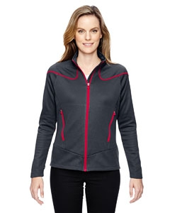North End Sport Red 78806 Ladies' Interactive Cadence Two-Tone Brush Back Jacket