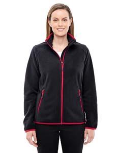 North End Sport Red 78811 Ladies' Vector Interactive Polartec Fleece Jacket