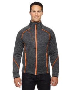 North End Sport Red 88697 Men's Flux Mélange Bonded Fleece Jacket