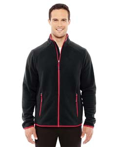 North End Sport Red 88811 Men's Vector Interactive Polartec Fleece Jacket