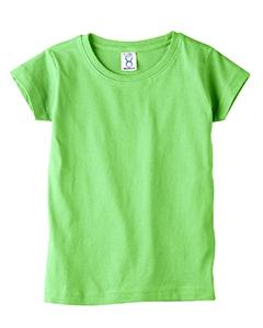 Rabbit Skins 3316 Toddler's 4.5 oz. Girls' Fine Jersey Longer Length T-Shirt