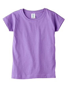 Rabbit Skins 3316 Toddler's 4.5 oz. Girls' Fine Jersey Longer Length T-Shirt