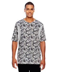 Team 365 TT12 Men's Short-Sleeve Athletic V-Neck All Sport Sublimated Camo Jersey