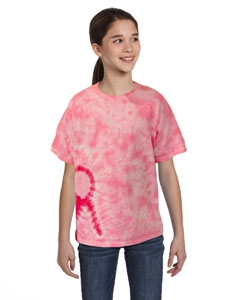 Tie-Dye CD1150Y Youth Pink Ribbon T-Shirt