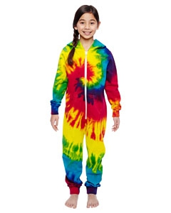 Tie-Dye CD892Y Youth All-In-One Loungewear