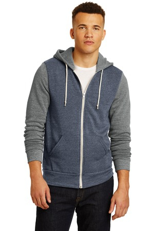 Alternative Colorblock Rocky EcoFleece Zip Hoodie. AA32023