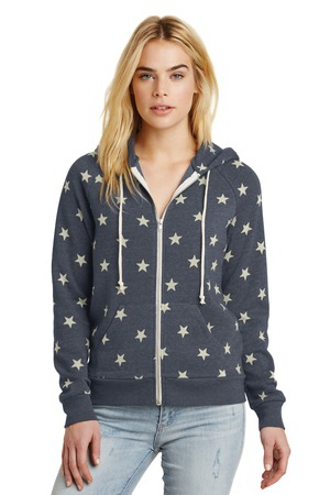 Alternative Adrian Eco Fleece Zip Hoodie. AA9573