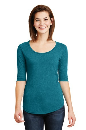 Anvil Ladies TriBlend Deep Scoop Neck 1/2Sleeve Tee. 6756L