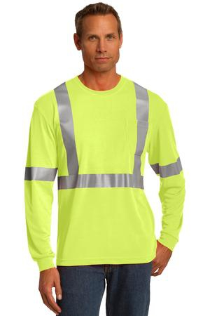 CornerStone ANSI 107 Class 2 Long Sleeve Safety TShirt. CS401LS