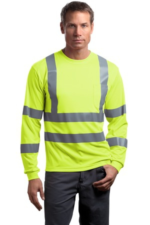 CornerStone  ANSI 107 Class 3 Long Sleeve SnagResistant Reflective TShirt. CS409