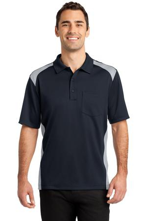 CornerStone Select SnagProof Two Way Colorblock Pocket Polo. CS416