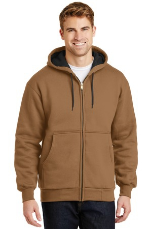 CornerStone  Heavyweight FullZip Hooded Sweatshirt with Thermal Lining.  CS620