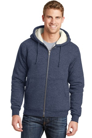 CornerStone Heavyweight SherpaLined Hooded Fleece Jacket. CS625