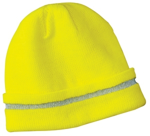 CornerStone  Enhanced Visibility Beanie with Reflective Stripe.  CS800
