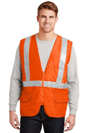 CornerStone  ANSI 107 Class 2 Mesh Back Safety Vest. CSV405