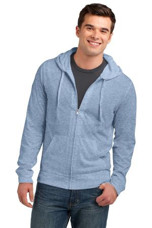 District Young Mens Jersey FullZip Hoodie. DT1100