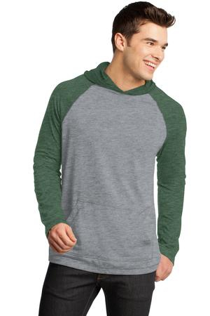District  Young Mens 50/50 Raglan Hoodie. DT128