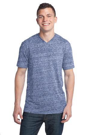 District  Young Mens TriBlend VNeck Tee DT142V