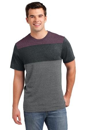 District Young Mens TriBlend Pieced Crewneck Tee. DT143
