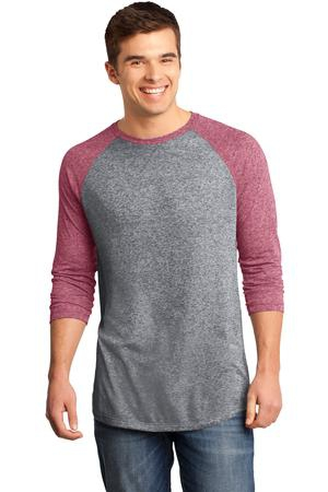 District  Young Mens Microburn 3/4Sleeve Raglan Tee. DT162