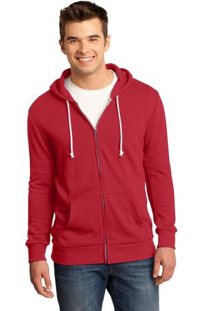 District  Young Mens Core Fleece FullZip Hoodie DT190