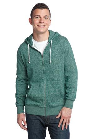 District  Young Mens Marled Fleece FullZip Hoodie DT192