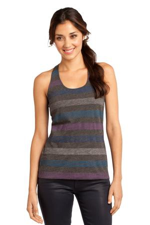 District  Juniors Reverse Striped Scrunched Back Tank. DT229