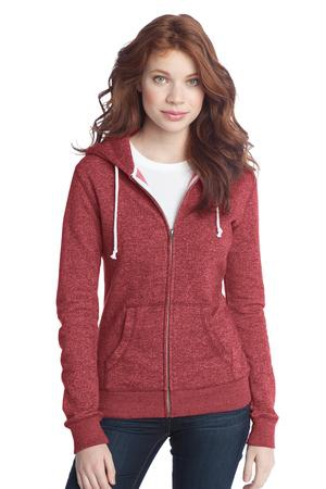 District  Juniors Marled Fleece FullZip Hoodie DT292