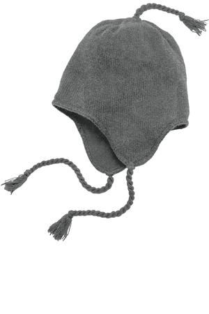 District  Knit Hat with Ear Flaps.  DT604