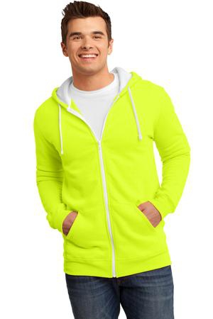District  Young Mens The Concert Fleece FullZip Hoodie. DT800