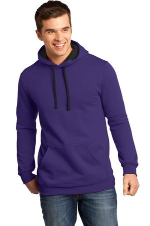 District  Young Mens The Concert Fleece Hoodie. DT810