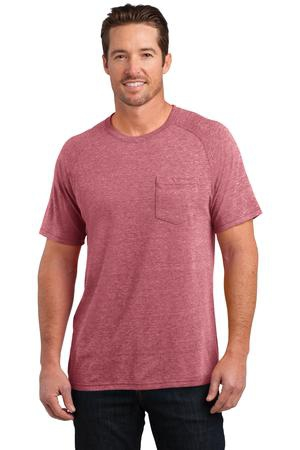 District Made Mens TriBlend Pocket Tee. DM340