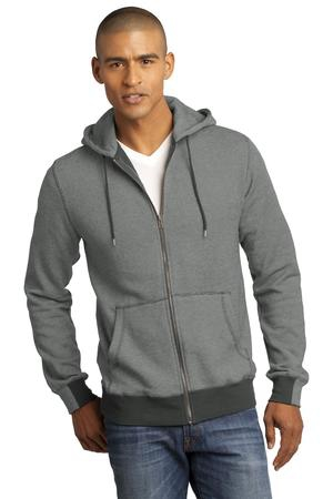 District Made  Mens Mini Stripe FullZip Hoodie. DM390