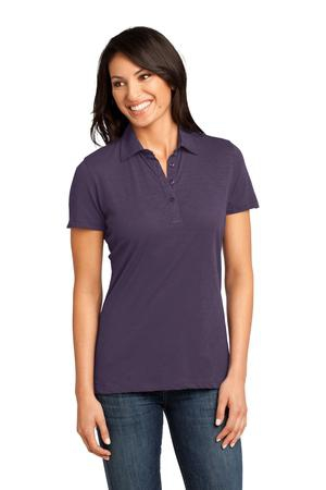 District Made  Ladies Slub Polo. DM450