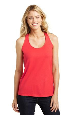 District Made Ladies Shimmer Loop Back Tank. DM455