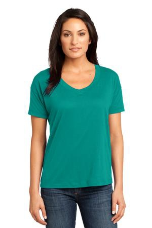 District Made  Ladies Modal Blend Relaxed VNeck Tee. DM480
