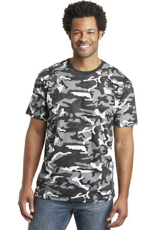 District Made Mens Camo Perfect Weight Crew Tee. DT104C