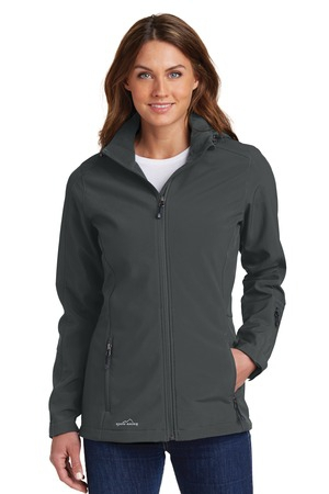 Eddie Bauer Ladies Hooded Soft Shell Parka. EB537