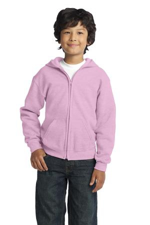 Gildan Youth Heavy Blend FullZip Hooded Sweatshirt. 18600B