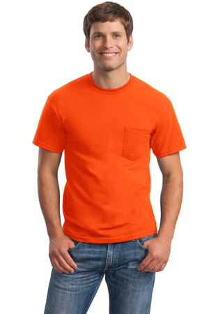 Gildan  Ultra Cotton 100% Cotton TShirt with Pocket.  2300
