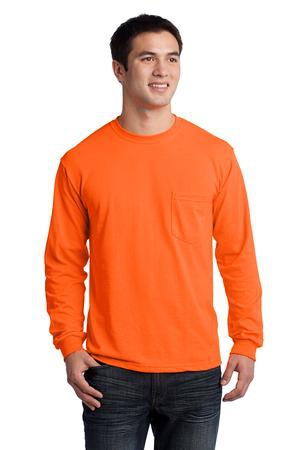 Gildan  Ultra Cotton 100% Cotton Long Sleeve TShirt with Pocket.  2410