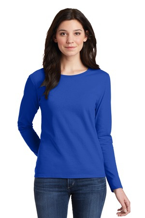 Gildan Ladies Heavy Cotton 100% Cotton Long Sleeve TShirt. 5400L