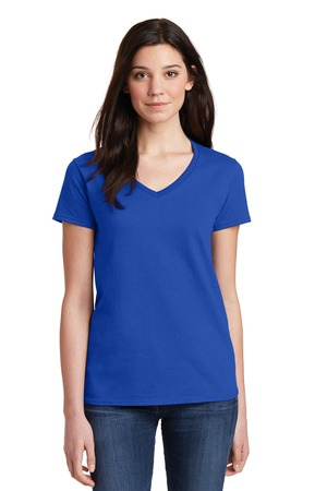 Gildan Ladies Heavy Cotton 100% Cotton VNeck TShirt. 5V00L