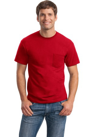 Gildan  DryBlend 50 Cotton/50 Poly Pocket TShirt. 8300