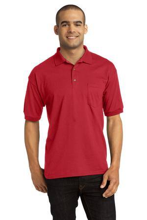 Gildan DryBlend 6Ounce Jersey Knit Sport Shirt with Pocket. 8900