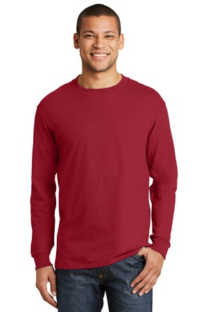 Hanes BeefyT   100% Cotton Long Sleeve TShirt.  5186