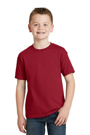 Hanes  Youth EcoSmart 50/50 Cotton/Poly TShirt.  5370