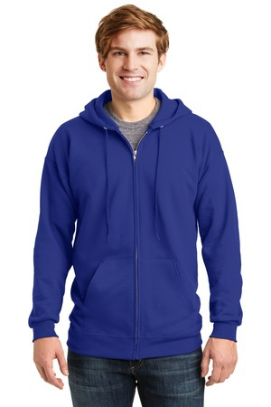 Hanes Ultimate Cotton  FullZip Hooded Sweatshirt.  F283